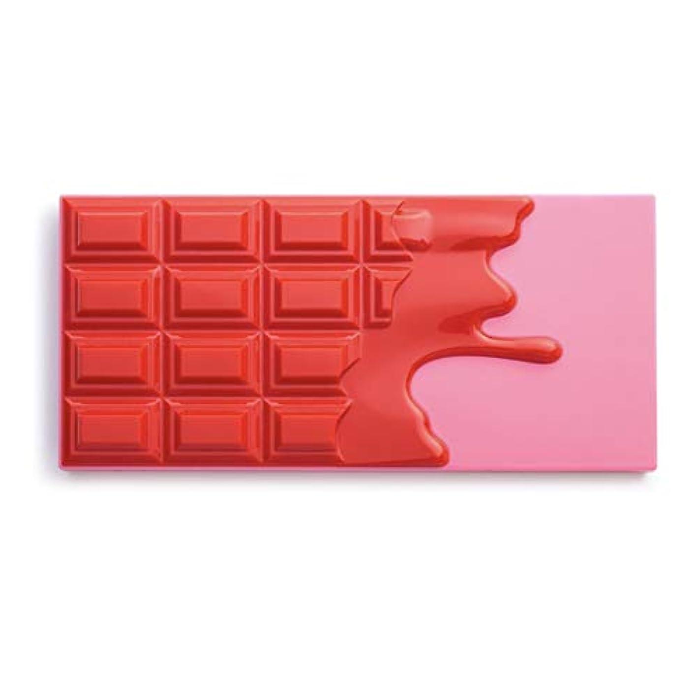 恥ずかしいとしてパネルメイクアップレボリューション アイラブメイクアップ チョコレート型18色アイシャドウパレット #Cherry Chocolate