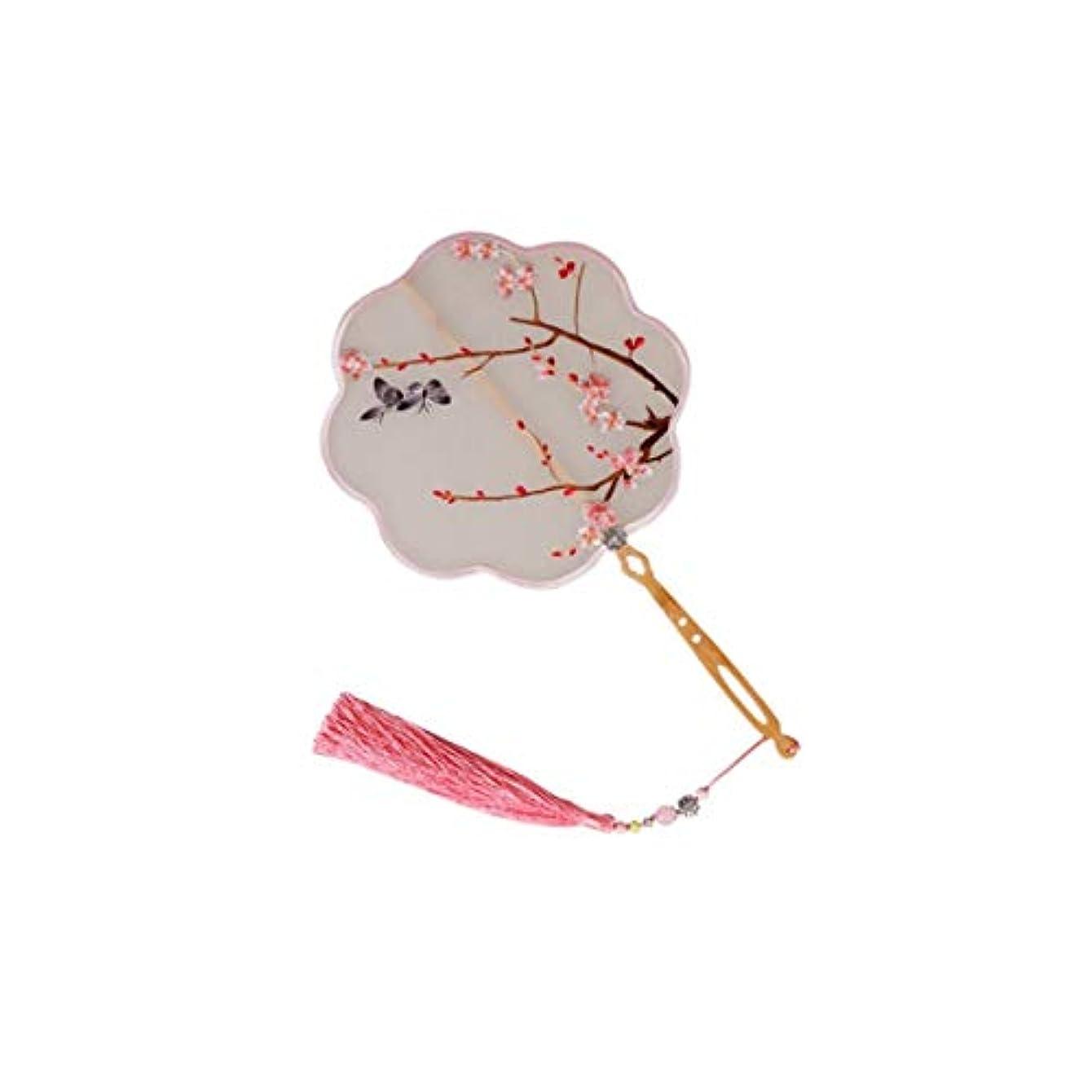 震える不利教KATH ファン、手作り、中国の絹の刺繍のファン、中国の工芸ギフト