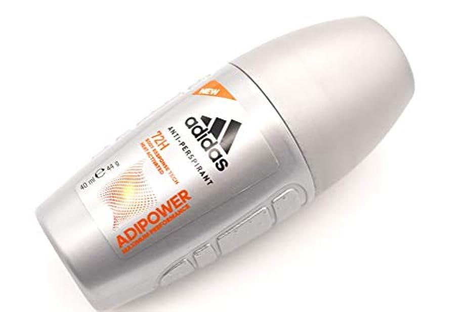 スーダンソフトウェア貸し手Adidas Roll On 40ml ADIPOWER アディダス デオドラント ロールオン 40ml アディパワー 制汗剤 72時間持続 日本未発売 並行輸入