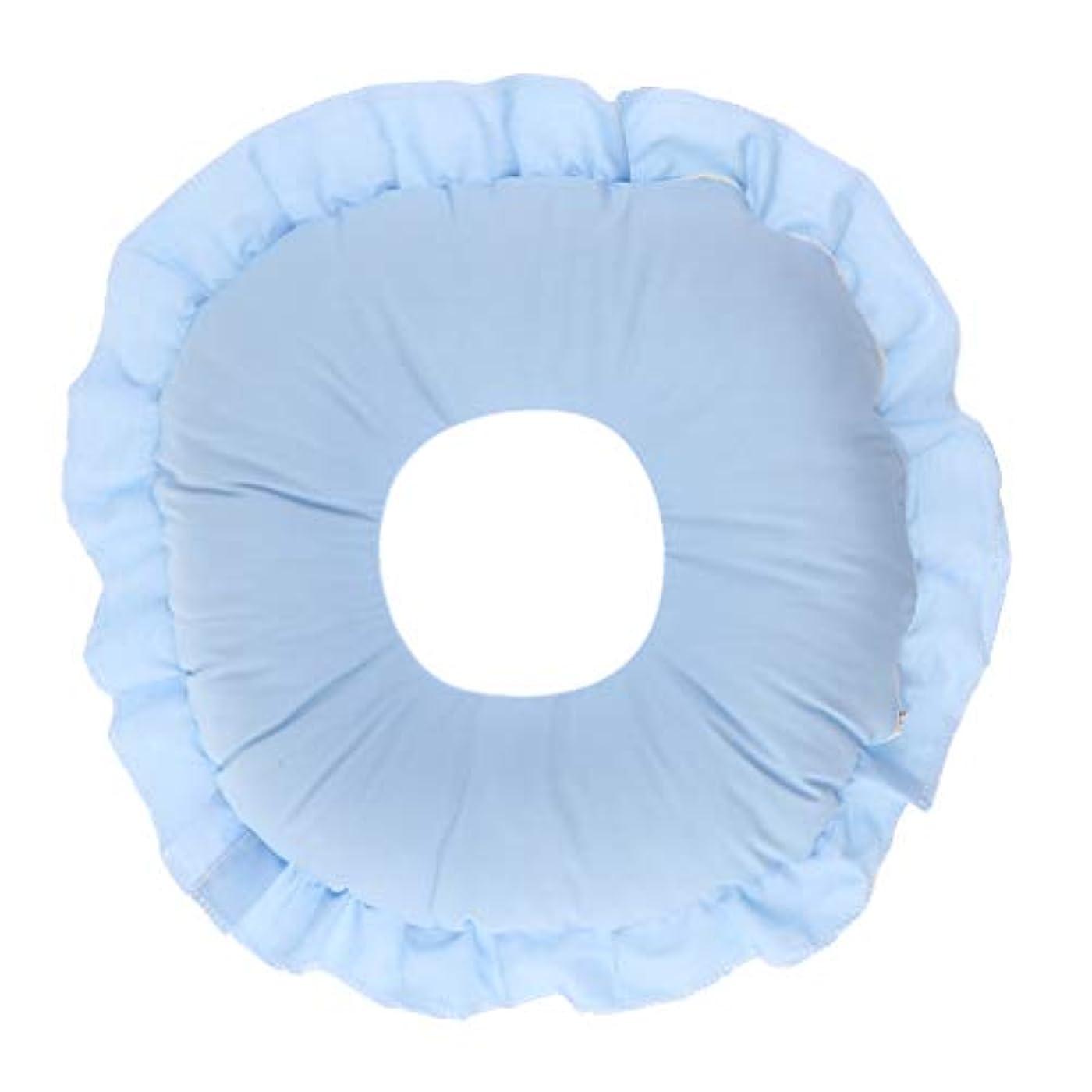 発明する神の式フェイスピロー 顔枕 マッサージ枕 フェイスクッション ソフト 洗えるカバー 全3色 - 青