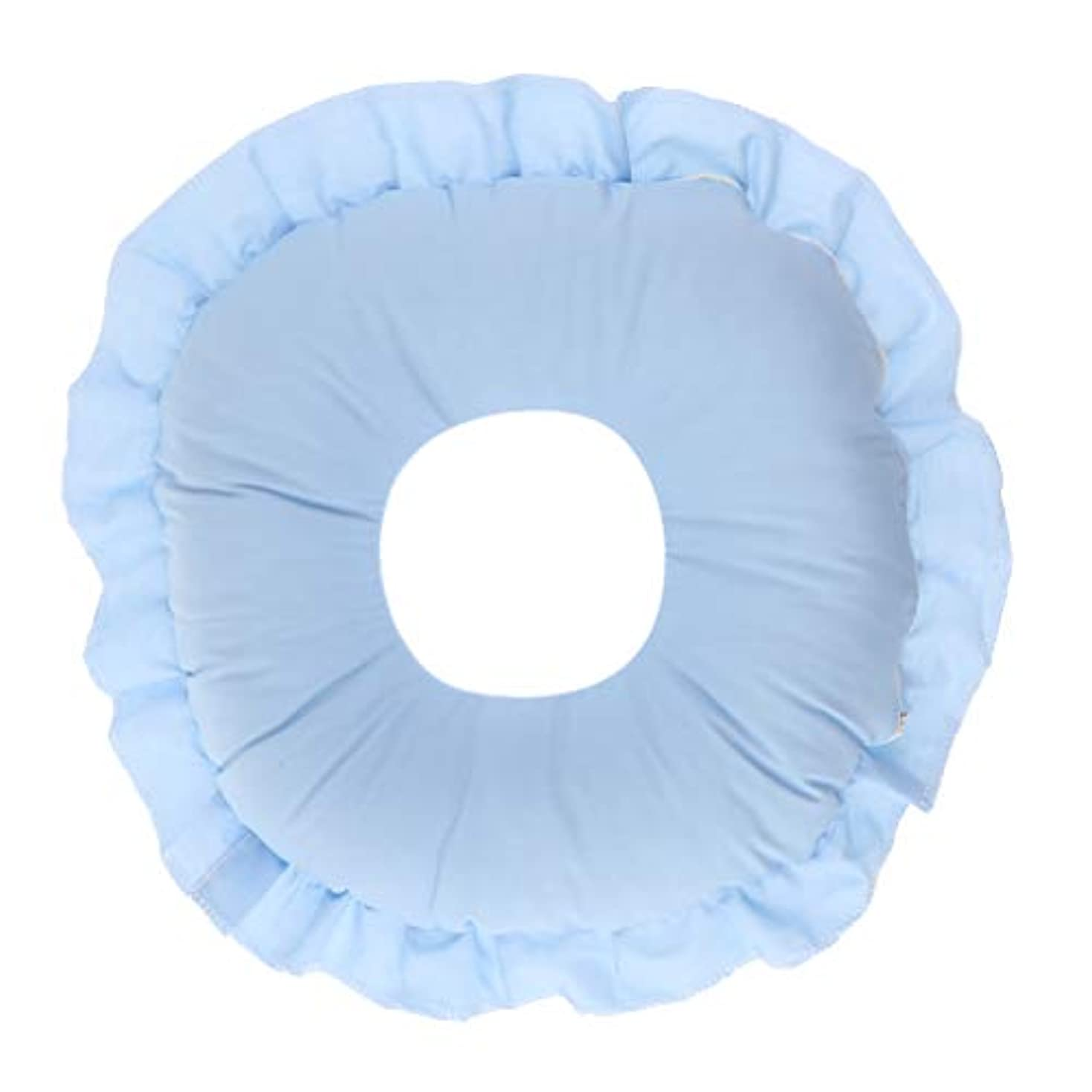 すごいレンチ利得フェイスピロー 顔枕 マッサージ枕 フェイスクッション ソフト 洗えるカバー 全3色 - 青
