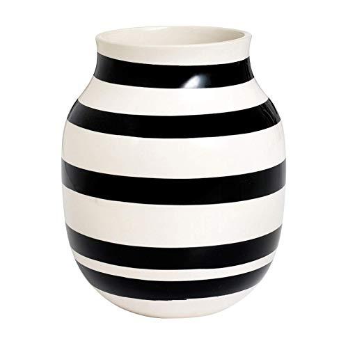 Kahler ケーラーOmaggio Vase オマジオ フラワーベース(M) ブラック H:20cm