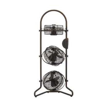 ドウシシャ 【扇風機】3連扇風機(リモコン付 ブラウン)DOSHISHA レトロ3連ボックスファン RBM-2381-BR