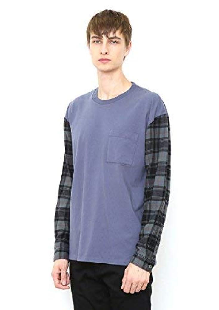 ぼんやりしたハーフブレス(グラニフ) graniph シャツ スリーブ 長袖Tシャツ (ブルー)