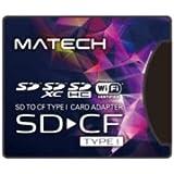 MATECH CFカード アダプタ SDカードからコンパクトフラッシュカード TypeI (タイプ1) 高速変換 WiFi SD対応【国内1年保証】SD1CF1AD