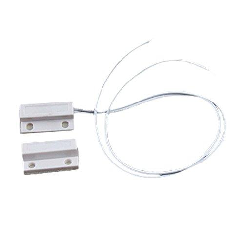 SODIAL(R)ホワイトドア窓コンタクト磁気リードスイッチセンサー
