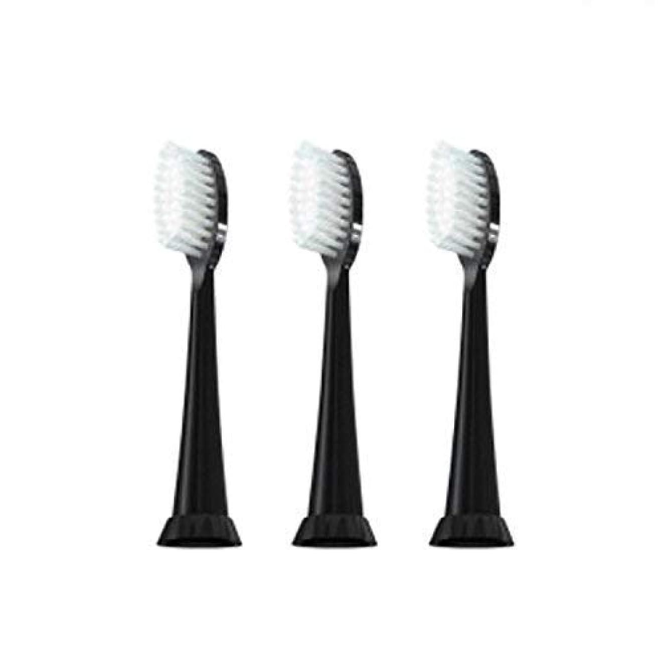 余計な震える奇跡的なTAO Clean 電動歯ブラシ用【替えブラシ 3本セット】(ブラック)通常はメール便にて発送します。