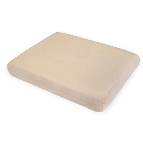 Milliard 4インチ (10センチ) プレミアム オーソペディック 100%形状記憶フォーム 犬用ベッド + 抗菌 取り外し可能 防水 ノンスリップカバー 40x35x4 インチ (101x89x10センチ)