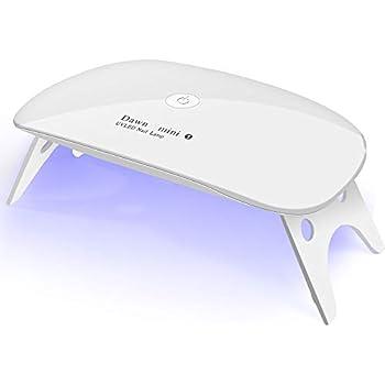UVライト LEDネイルドライヤー ジェルネイルLEDライト 硬化ライト タイマー設定可能 折りたたみ式手足とも使える 人感センサー式 UV と LEDダブルライト ジェルネイル用 (ホワイト )