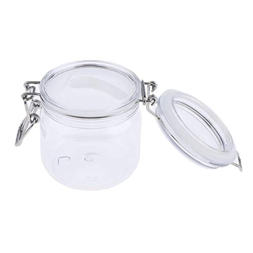 懲らしめ屋内晩ごはんSM SunniMix 化粧品容器 瓶 クリーム ジャー コスメ 詰め替え容器 スプーン付き 3サイズ選べ - 500g