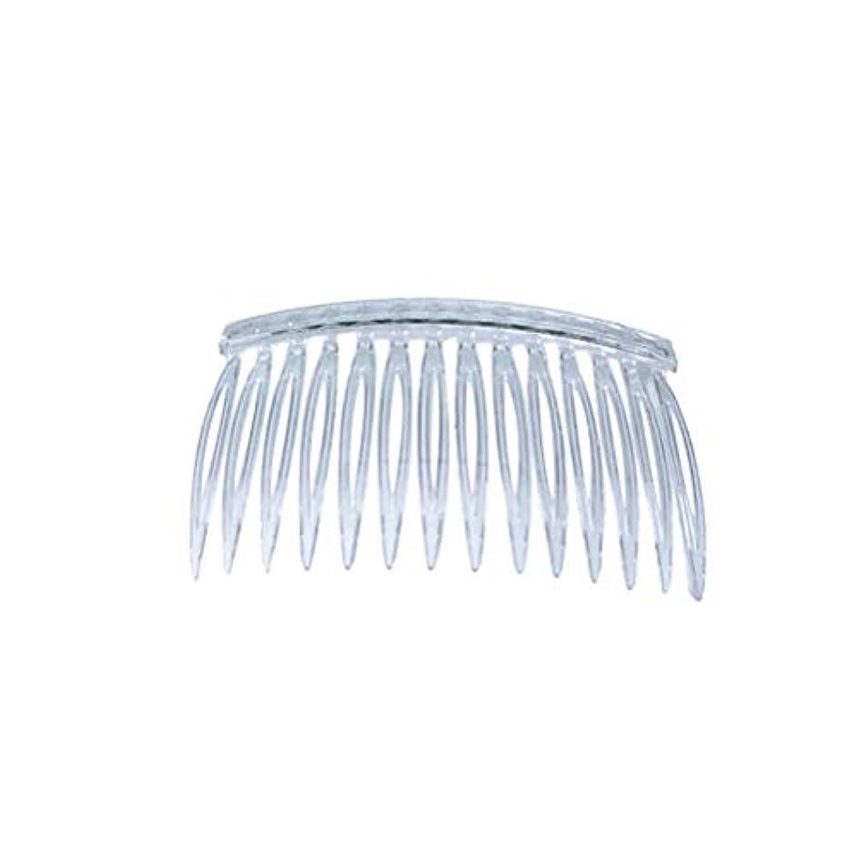 フィードオン白菜白いFrcolor ヘアコーム ヘアアレンジ コーム かんざし ヘッドドレス 髪の櫛 髪飾り ヘアアクセサリー まとめ髪 プラスチック 透明 10本セット