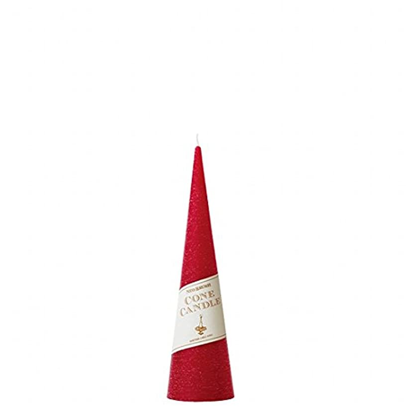 テーブルを設定する何キャストカメヤマキャンドル(kameyama candle) ネオブラッシュコーン 180 キャンドル 「 レッド 」