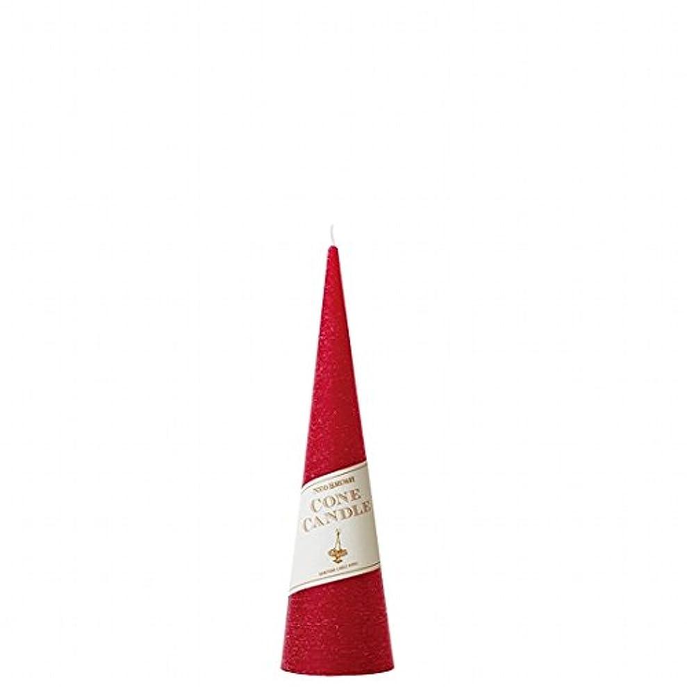 砂ロッカー気質カメヤマキャンドル(kameyama candle) ネオブラッシュコーン 180 キャンドル 「 レッド 」