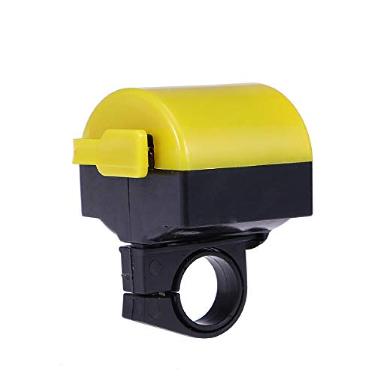 バウンス大砲闇LIOOBO 自転車ベル自転車ホーンサイクリングホーン90 DB自転車自転車ハンドルバーリング安全防水バッテリーなし(黄色)