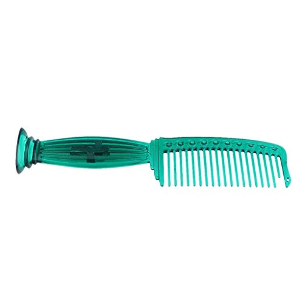 立ち寄る床レイT TOOYFUL 全5色 ワイド歯 ヘアコーム ヘアブラシ プラスチック櫛 頭皮保護 櫛 プロ ヘアサロン 理髪師用 - 緑