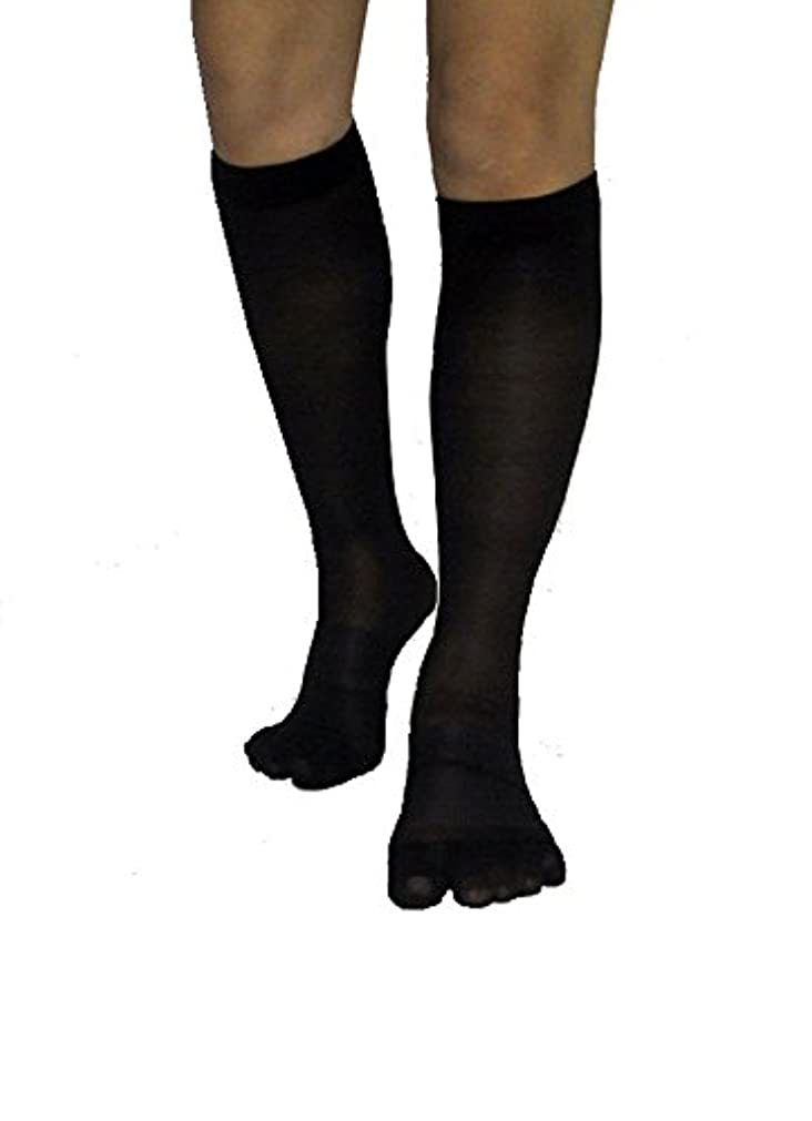 ローラーアマゾンジャングル百年楽チンウォーキン 着圧ハイソックス ブラック 24‐26cm