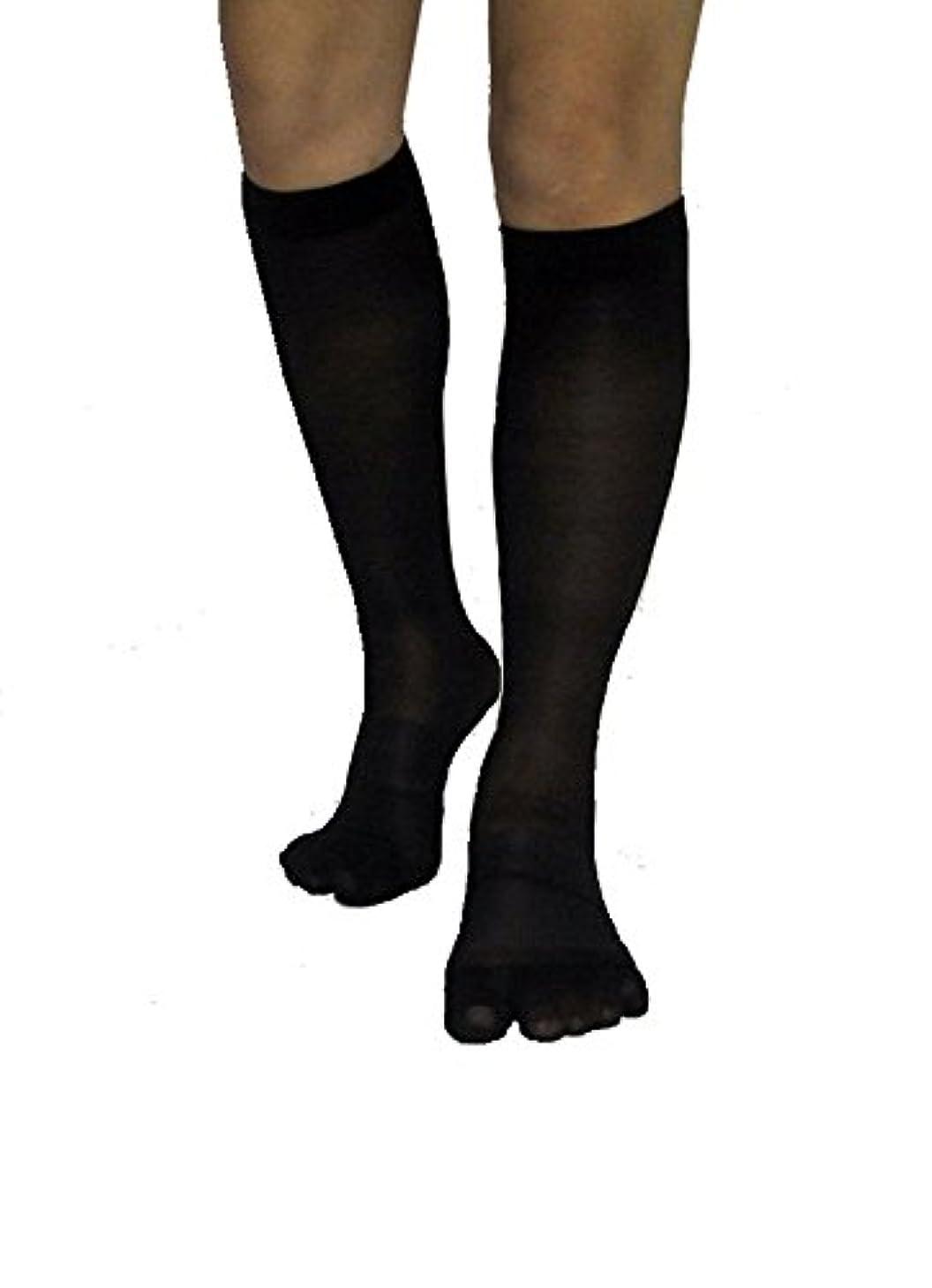 謝罪ロゴ破滅的な楽チンウォーキン 着圧ハイソックス ブラック 24‐26cm