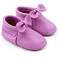 Starbie Anti-Slip Baby Moccasins for Infant, Toddlers, Boys and Girls Baby Shoes - 15 Colors, Baby Leather Shoes. Light Blue