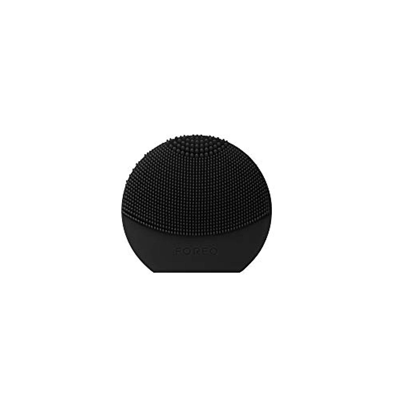 過言センチメートル服を着るFOREO LUNA Play Plus ミッドナイト シリコーン製 音波振動 電動洗顔ブラシ 電池式
