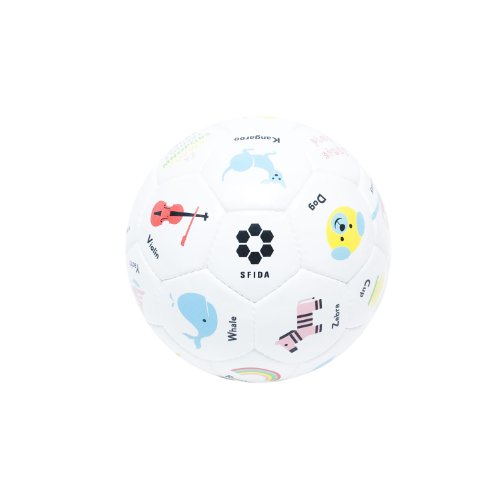 SFIDA (SFDA) Play! Study! Football No. 3 white PU synthetic leather BSF-ps