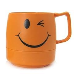 DINEX(ダイネックス) クラシックマグカップ スマイルイエロー/ウインクオレンジ・CLASSIC MAG CUP SMILE/WINK (ウインク(オレンジ))
