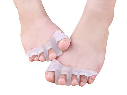 Nowest (ノウェスト) 足指矯正パッド 外反母趾 サポーター 矯正装具 男女兼用 シリコン 爪ブラシ付き