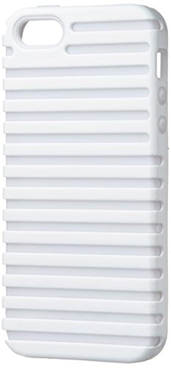 チーム接ぎ木早くiwave iPhone 5/5s専用 Stripe Case ホワイト/ホワイト ICP5066-WH