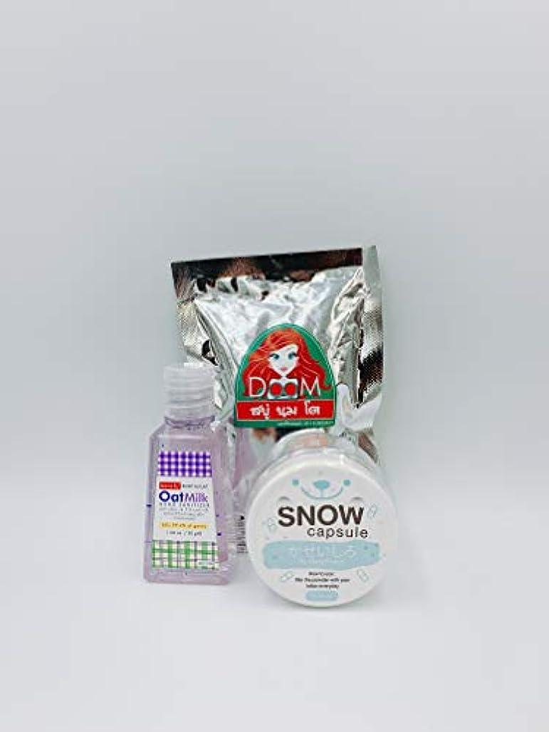 現金生物学病的Bench Oat Milk HAND SANITIZER & DOOM SOAP & SNOW CAPSULE SET