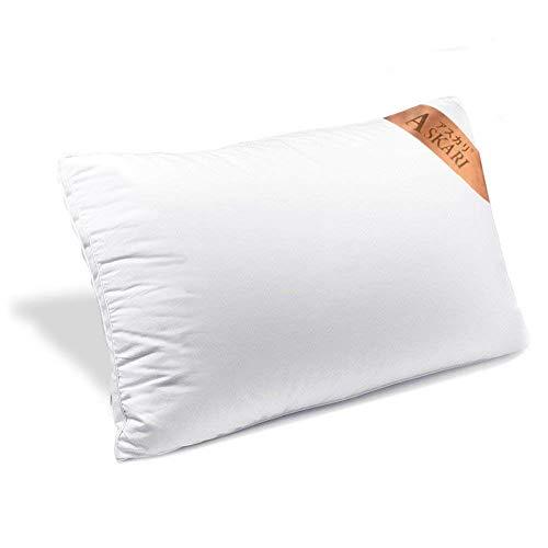 ASKARI 枕 安眠枕 高反発枕 快眠枕 高級ホテル仕様 安眠 人気 肩こり 横向き対応 丸洗い可能 立体構造 男女兼用 首・頭・肩をやさしく支える健康枕 43x63cm