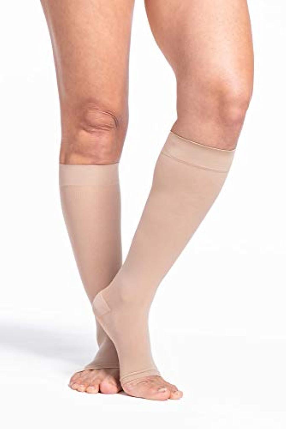 仲人ボタン用心深いSigvaris EverSheer 781CMLO33 15-20 Mmhg Open Toe Medium Long Calf Hosiery For Women, Natural by Sigvaris