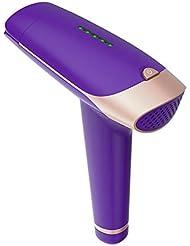 新しい紫色の家庭用脱毛器具、安全で痛みのない、長期脱毛、全身への繰り返し塗布なし