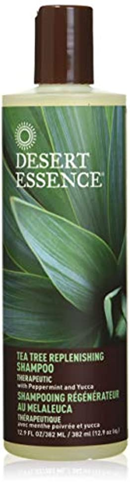 取り壊すボート護衛DESERT ESSENCE社 Tea Tree Replenishing Shampoo 12.9液量オンス