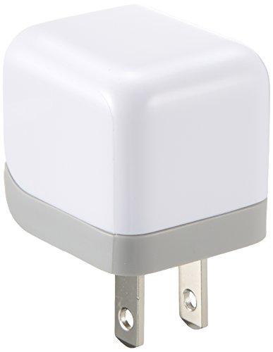 ELECOM エレコム AC充電器 ipod/iPhone6s/6s Plus/iPhone5/4S/4/3GS/3G cube型 USB ホワイト AVA-ACU01WH