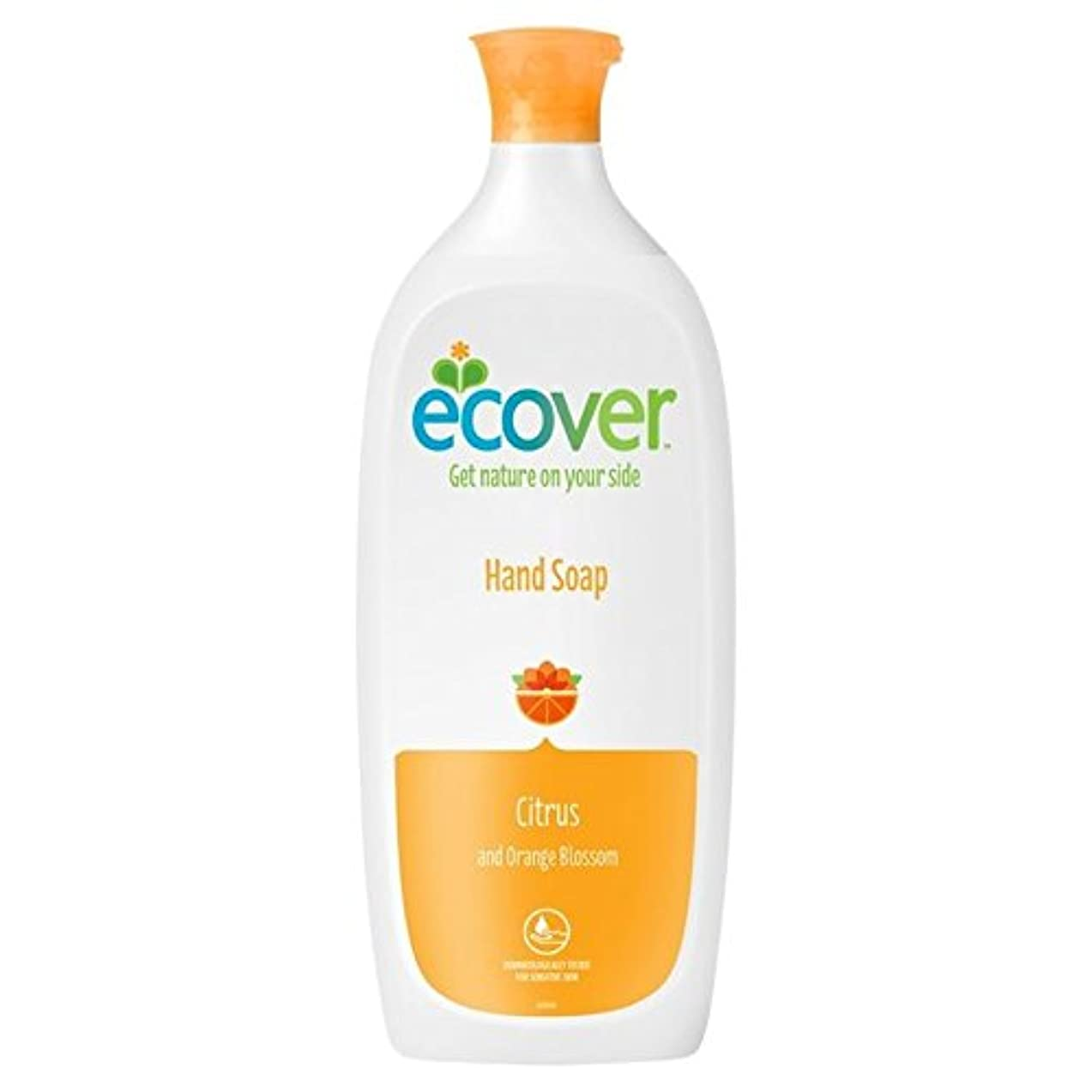 事故アフリカ人口径Ecover Liquid Soap Citrus & Orange Blossom Refill 1L (Pack of 6) - エコベール液体石鹸シトラス&オレンジの花のリフィル1リットル x6 [並行輸入品]