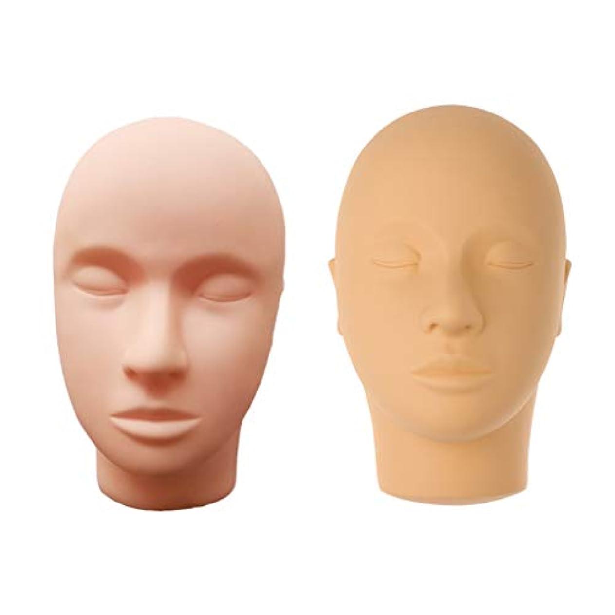 インディカ別々に置換Perfeclan マネキンヘッド 肌色 シリコーン 練習 メイクアップ まつげ エクステ マッサージ練習