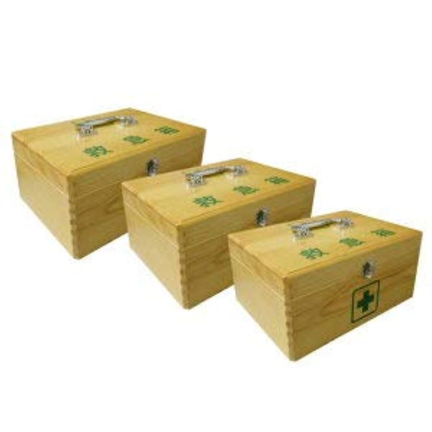 ピンダンプ雇用LE木製救急箱M(衛生材料セット付)×3セット