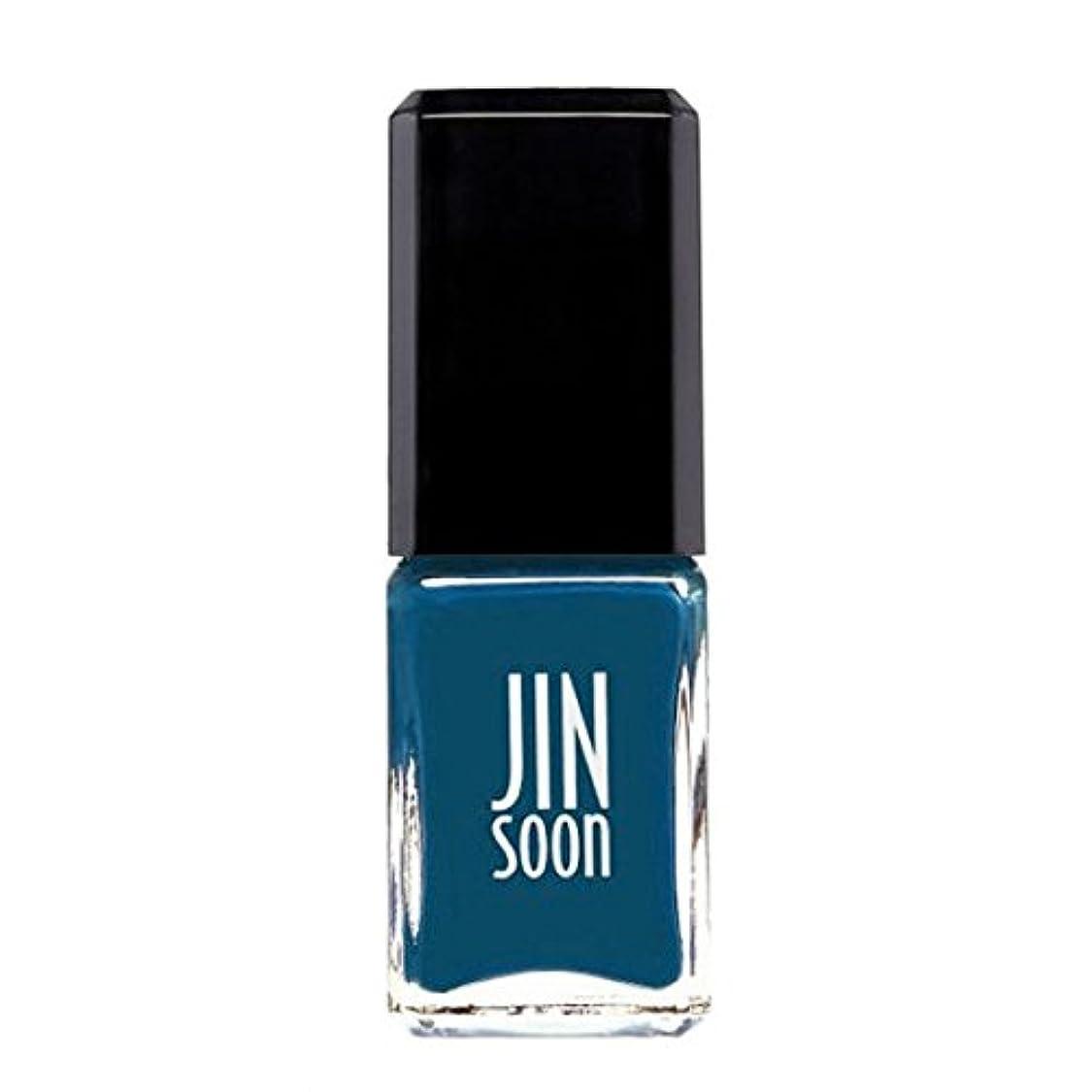 民族主義ストッキングパターン[ジンスーン] [ jinsoon] ボウ(ティールブルー) BEAU ジンスーン 5フリー ネイルポリッシュ ネイルカラー系統:ティールブルー teal blue 11mL
