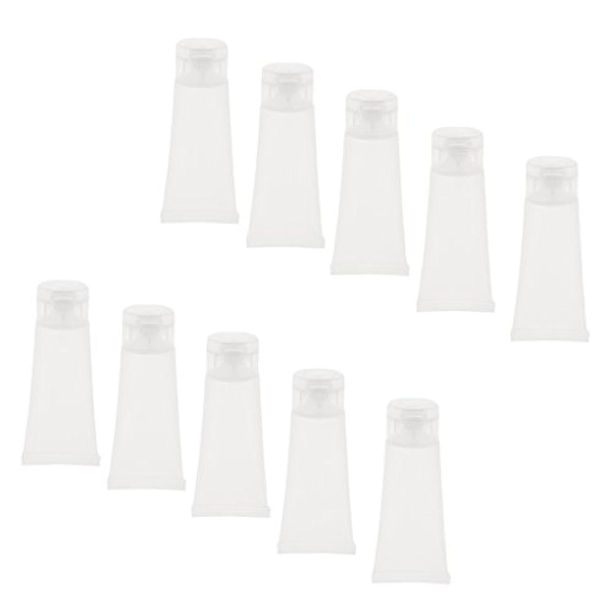 銀河重々しい南極10個 空チューブ クリームチューブ 透明 プラスチック製 コスメ 詰替え メイクアップ ローション コンテナ 収納ボトル 2サイズ選べる - 15g