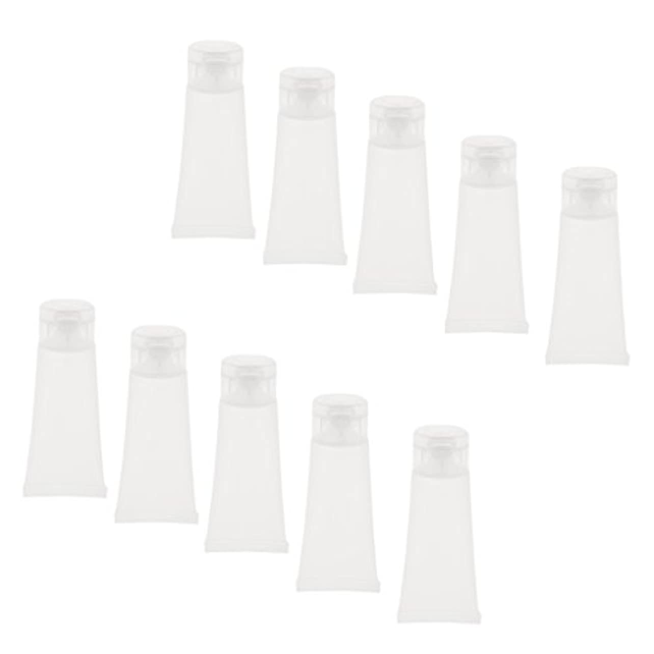 ホールドラテンスタッフ10個 空チューブ クリームチューブ 透明 プラスチック製 コスメ 詰替え メイクアップ ローション コンテナ 収納ボトル 2サイズ選べる - 15g
