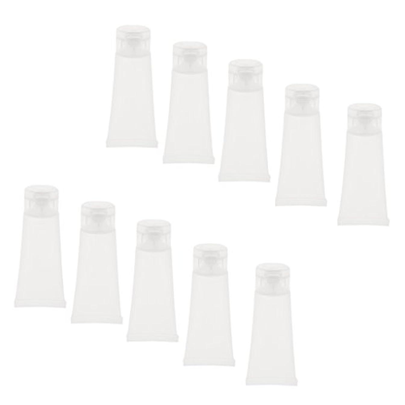 課す司法第四10個 空チューブ クリームチューブ 透明 プラスチック製 コスメ 詰替え メイクアップ ローション コンテナ 収納ボトル 2サイズ選べる - 15g