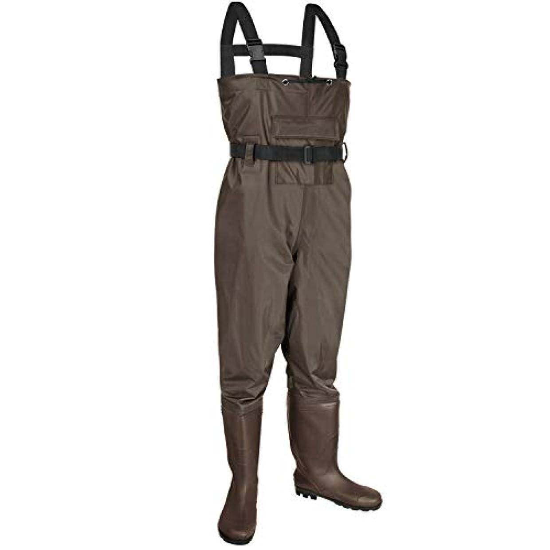 精巧なサイクロプスはぁKOMEX チェストウェーダー フィッシングブーツ ウェーダーハンティングブーツフット ウェーディングベルト付き 防水ブーツ 通気性ナイロンとPVCウェーディングブーツ 男女兼用