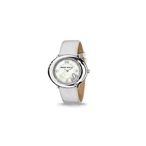 Miss Sixty ミスシックスティー Ladies Watch Srk005 In Collection Fiesta, 2 H and S, Mop Dial and White Strap レディス 女性用 腕時計: 腕時計[並行輸入品]