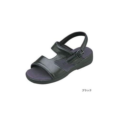 (クロワッサン) CROISSANT サンダル Basic ベーシック(CR4592) レディース マシュマロ 定番 S(21.5-22.0cm) ブラック