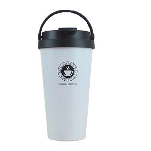真空断熱 ストロータンブラー ふた付き おしゃれ ステンレス 保温 コーヒー 500mlホワイト