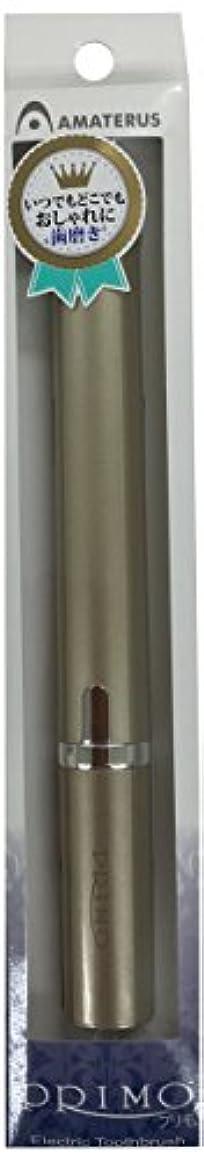 ジャニス疼痛作家アマテラス 携帯型音波振動歯ブラシ Primo(プリモ)K13 シャンパンゴールド 1本