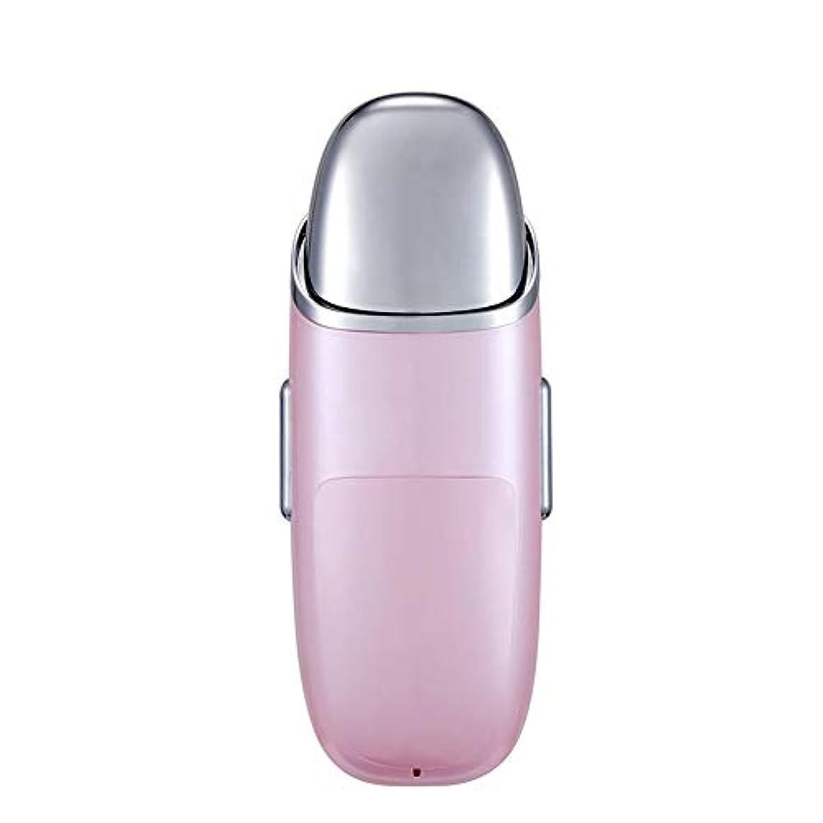高音ほとんどの場合マンハッタンナノフェイシャル、充電式フェイシャルスチーマー10 ml水タンク、ポータブルフェイシャルスプレー、スキンケア、旅行保湿および保湿 (Color : Pink)