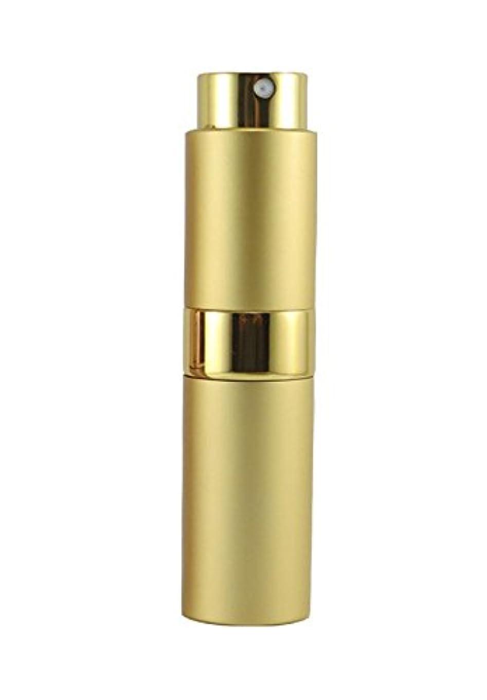 統治する鏡用心NYSh 香水 アトマイザー プッシュ式 スプレー 詰め替え 携帯 身だしなみ メンズ 15ml (ゴールド)