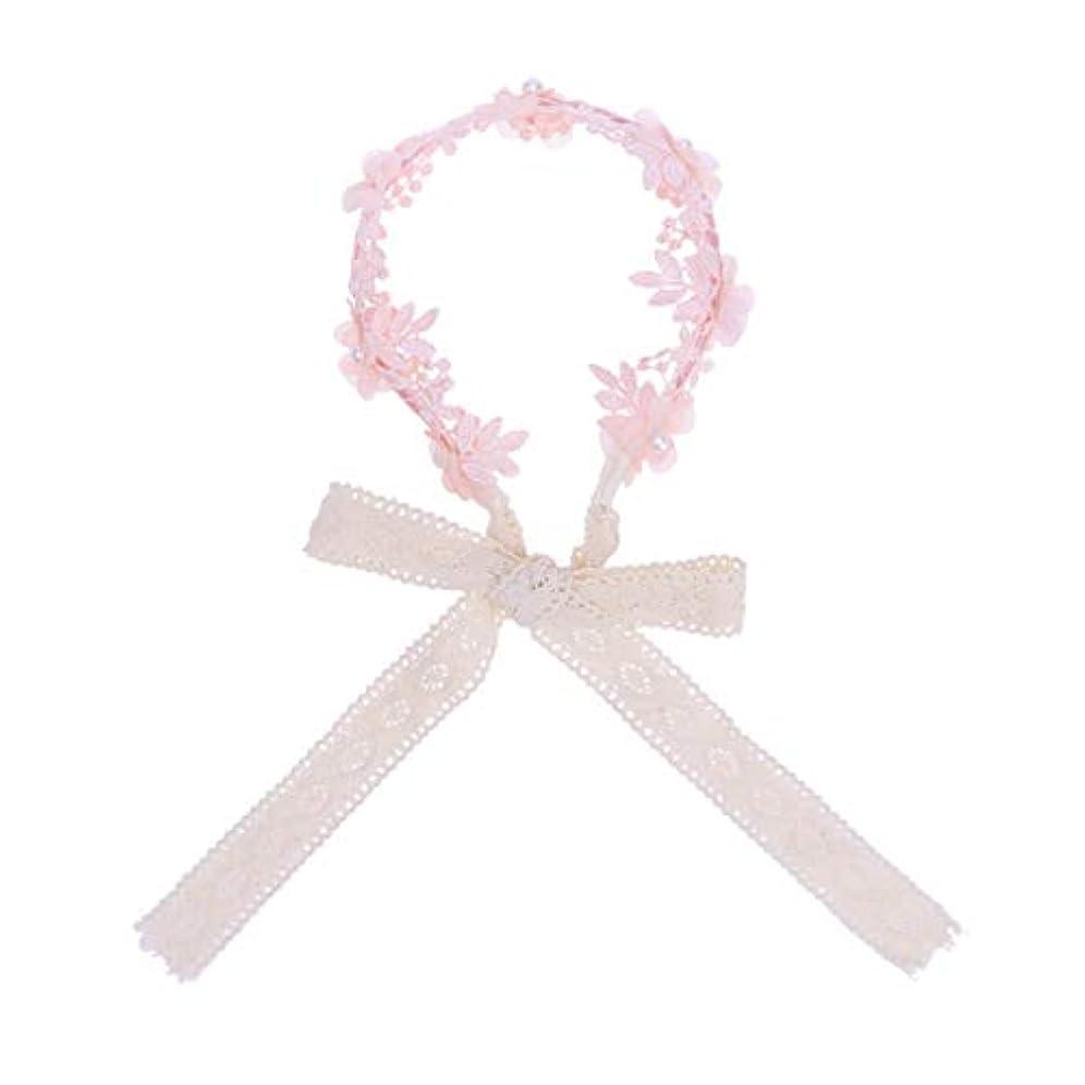 基本的な開発するタイプLurrose 女の子ヘアフープアクセサリーヘアバンドリボン帽子小道具デコレーション(ピンク)