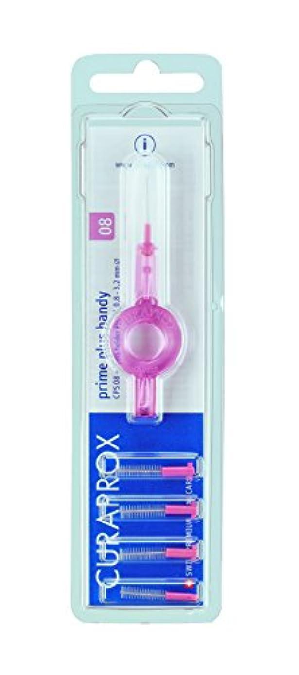参照する肯定的適合クラプロックス 歯間ブラシ プライムプラスハンディ08桃