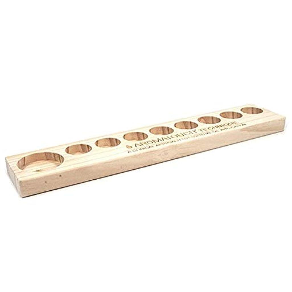 化粧カスタム想起エッセンシャルオイルの保管 9スロット木製エッセンシャルオイルストレージホルダーはパーフェクトエッセンシャルオイルケースボトル9つの油を保持します (色 : Natural, サイズ : 34.8X5.8X1.9CM)